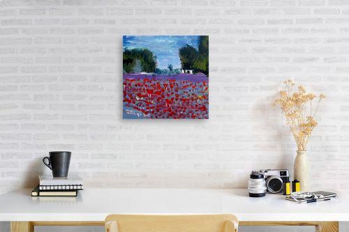 תמונה לפינת עבודה - ורד אופיר - שדה כלניות - מק''ט: 313207