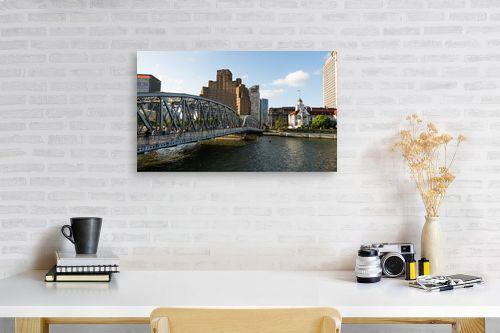 תמונה לפינת עבודה - טניה קלימנקו - Shanghai, Waibaidu bridge - מק''ט: 315104