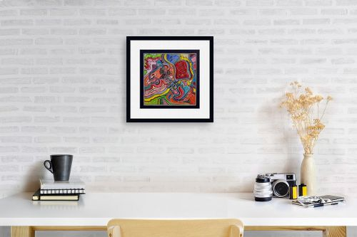 תמונה לפינת עבודה - חיים מחט - שבילים צבעוניים - מק''ט: 317386