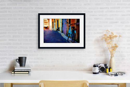 תמונה לפינת עבודה - אורית גפני - סמטה ציורית - מק''ט: 325110