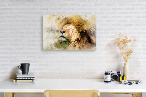 תמונה לפינת עבודה - Artpicked - אריה - מק''ט: 329700