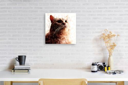 תמונה לפינת עבודה - Artpicked - חתולי - מק''ט: 329736