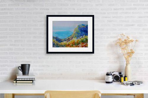 תמונה לפינת עבודה - נטליה ברברניק - נוף ליד הים - מק''ט: 330515