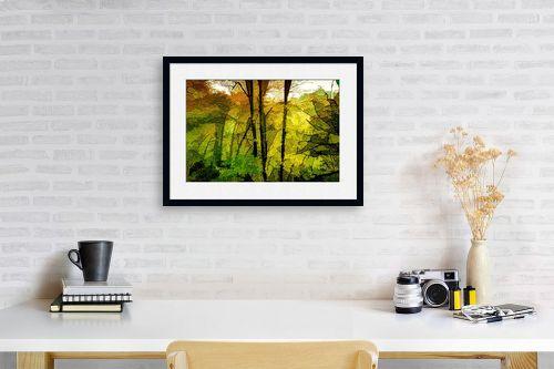 תמונה לפינת עבודה - אורית גפני - אור ראשון ביער - מק''ט: 331635