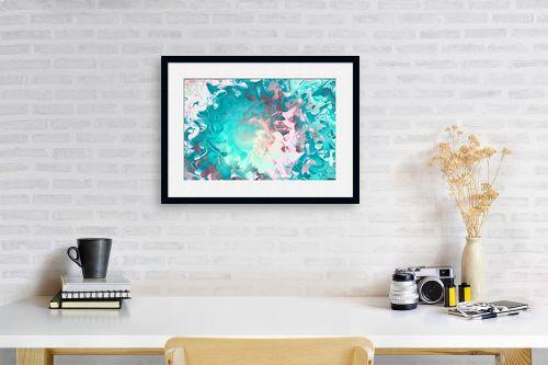 תמונה לפינת עבודה - Artpicked - ים של צבעים - מק''ט: 332533