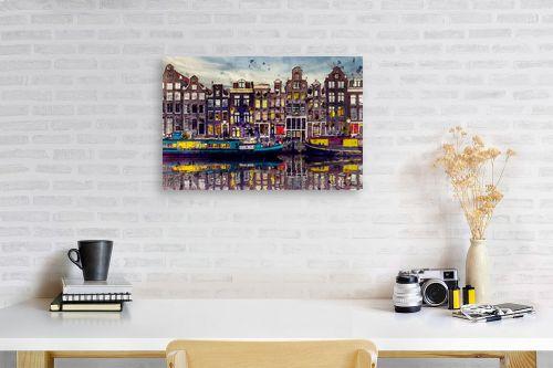 תמונה לפינת עבודה - Artpicked - אמסטרדם אהובתי - מק''ט: 333001