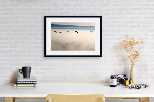 תמונה לפינת עבודה - אסף סולומון - מעל ערפילים בענן - מק''ט: 37680