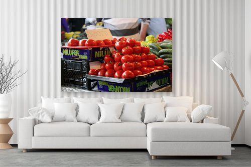 תמונה לסלון - דן ששתיאל - עגבניות בשוק - מק''ט: 111179