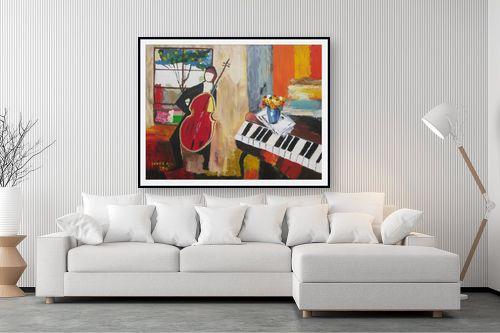תמונה לסלון - ורד אופיר - אדם וכינור - מק''ט: 112407