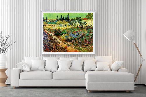 תמונה לסלון - וינסנט ואן גוך - Flowering Garden - מק''ט: 115561