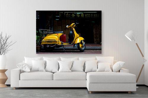 תמונה לסלון - ניר אלון - וספה צהובה - מק''ט: 129156