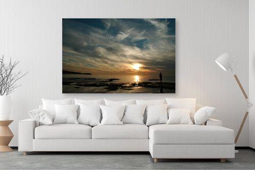 תמונה לסלון - אבנר ירון - שקיעה בחוף פלמחים - מק''ט: 14087