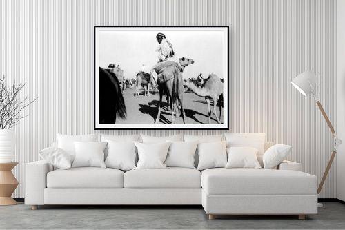 תמונה לסלון - דוד לסלו סקלי - ג'ירג'ה 1940 מרוץ גמלים - מק''ט: 143790