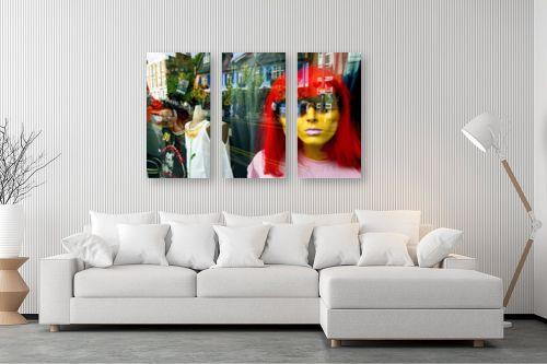 תמונה לסלון - אורלי שטטינר - פאה אדומה בחלון - מק''ט: 145805