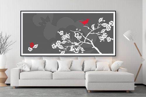 תמונה לסלון - נעמי עיצובים - ציפור אודם - מק''ט: 159899