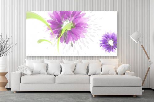תמונה לסלון - נעמי עיצובים - פרחי טיפות - מק''ט: 161549