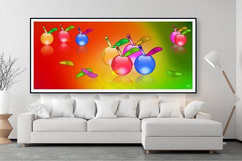 תמונה לסלון - ויקטוריה רייגירה - תפוחים ציבעונים - מק''ט: 180682