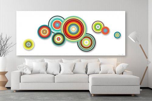 תמונה לסלון - נעמי עיצובים - עיגולים שמחים - מק''ט: 188858