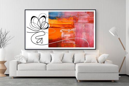 תמונה לסלון - נעמי עיצובים - פרח חצוי - מק''ט: 188939