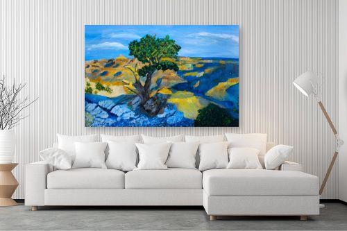 תמונה לסלון - חנה כרמי - העץ הבודד - מק''ט: 194988