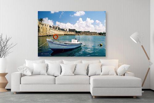 תמונה לסלון - קובי פרידמן - סירה בעכו - מק''ט: 19661