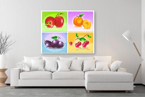 תמונה לסלון - ויקטוריה רייגירה - פירות העונה - מק''ט: 208141