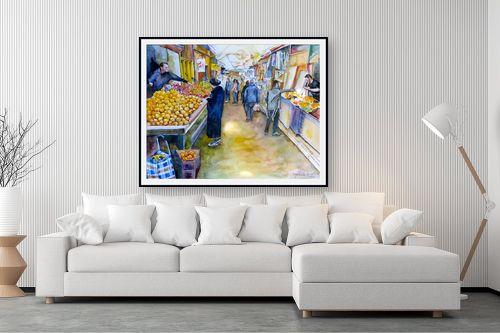 תמונה לסלון - חיה וייט - קניות בשוק - מק''ט: 213214