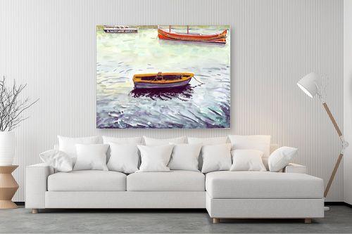 תמונה לסלון - חיה וייט - סירות דייגים - מק''ט: 213274