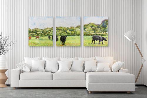 תמונה לסלון - חיה וייט - פרות במרעה - מק''ט: 234258
