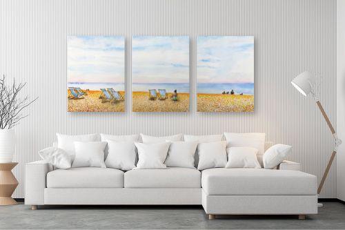 תמונה לסלון - חיה וייט - חוף ים בברייטון - מק''ט: 234414