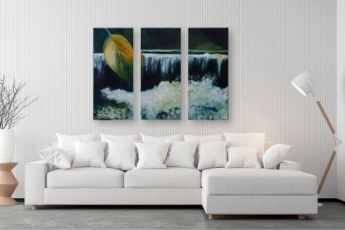 תמונה לסלון - שרה וולקוב - על יד מפל מים - מק''ט: 236310