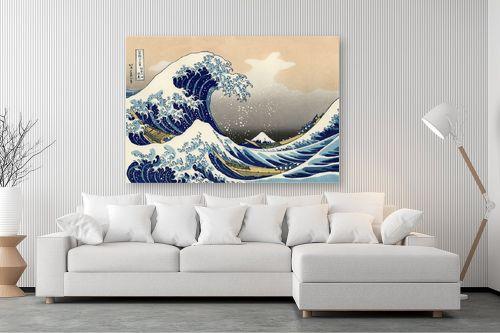 תמונה לסלון - קצושיקה הוקוסאי - The great wave - מק''ט: 240101