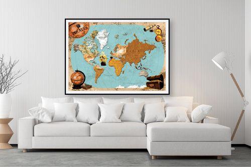 תמונה לסלון - מפות העולם - Pirates map - מק''ט: 240814