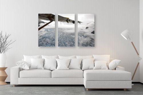 תמונה לסלון - ענת שיוביץ - קרחון עד ממעוף הציפור - מק''ט: 248964