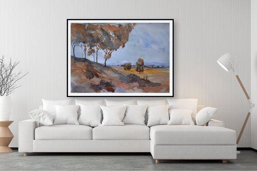 תמונה לסלון - אורן יבנין - עצים כחולים - מק''ט: 257300