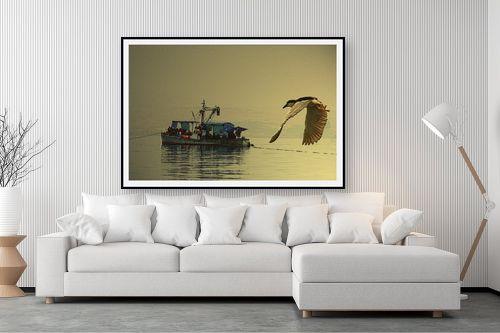תמונה לסלון - שי וייס - אנפה עורבת לדייג - מק''ט: 271619