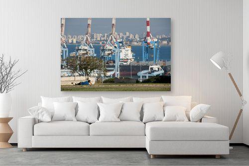 תמונה לסלון - אורי לינסקיל - מעל הנמל - מק''ט: 275156