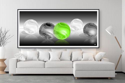 תמונה לסלון - ויקטוריה רייגירה - הכדור הירוק - מק''ט: 276529