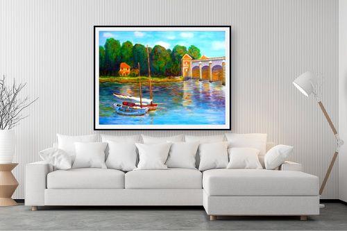 תמונה לסלון - אסתר חן-ברזילי - גשר על הנהר - מק''ט: 280874