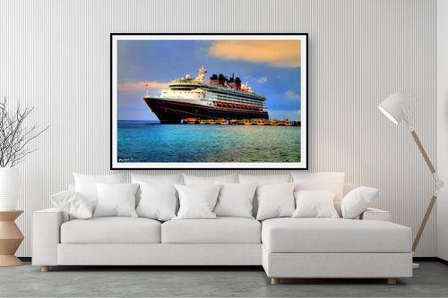 תמונה לסלון - מתן הירש - ספינה בקריביים - מק''ט: 282494