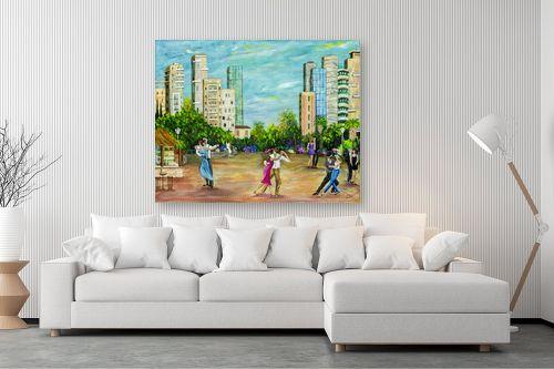 תמונה לסלון - רוחלה פליישר - רוקדים בככר העיר-בחברותא - מק''ט: 283198