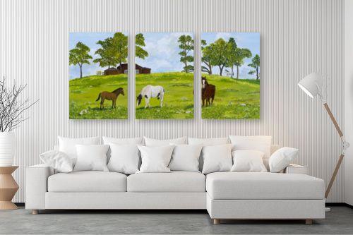 תמונה לסלון - נריה ספיר - סוסים באחו - מק''ט: 284498