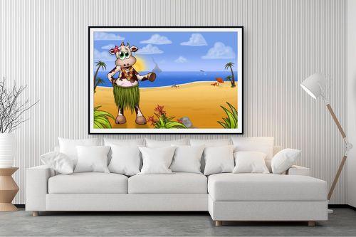 תמונה לסלון - חנן אביסף - בלה הפרה בחוף של הוואי - מק''ט: 287914