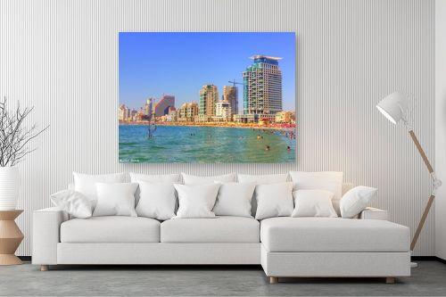 תמונה לסלון - מתן הירש - חוף הים בתל אביב - מק''ט: 290102
