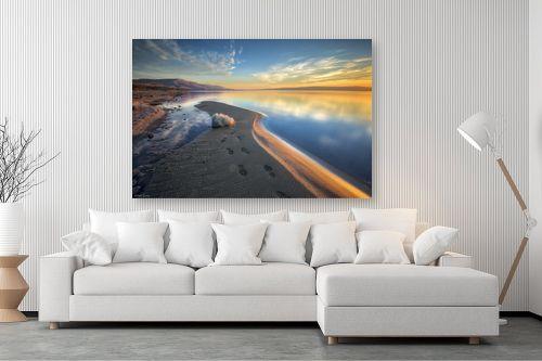 תמונה לסלון - מיכאל שמידט - שעת הזהב בכנרת - מק''ט: 293598