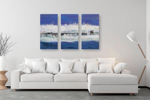 תמונה לסלון - ורד אופיר - יונים בגדר תיל - מק''ט: 299115