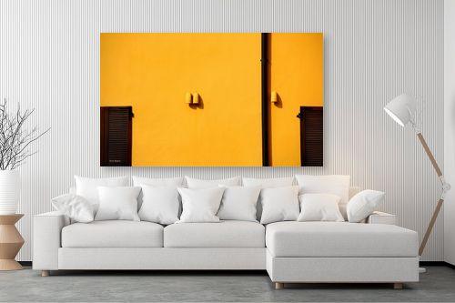 תמונה לסלון - אורית גפני - מינימליזם בצהוב - מק''ט: 299185
