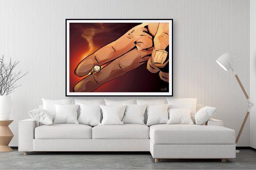 תמונה לסלון - חנן אביסף - אצבעות מחזיקות סיגריה - מק''ט: 304275