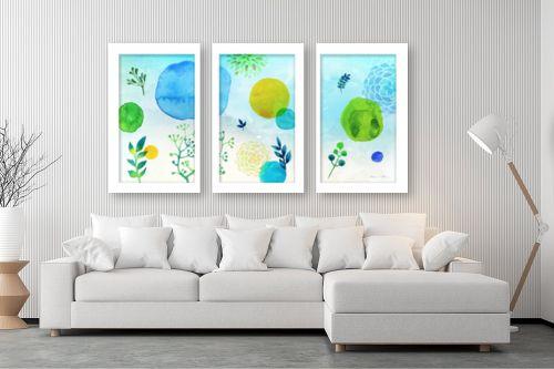 תמונה לסלון - נעמי עיצובים - כתמי צבע בחלל - מק''ט: 304664