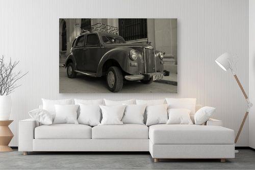 תמונה לסלון - מאיר בר-אל - מכונית ישנה - מק''ט: 306382